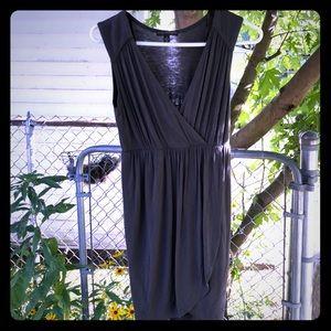 Olive green sleeveless T-shirt dress